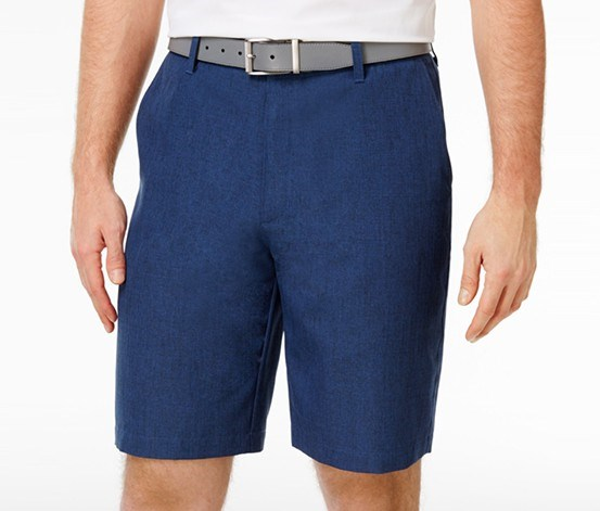 Mens Heathered Shorts, Blue Socket