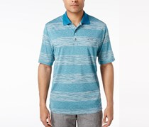 Greg Norman For Tasso Elba Men's Heathered Striped Polo, Dragonfly Blue