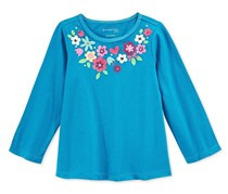 Baby Girls Long Sleeve Floral Necklace,Mirage Lake