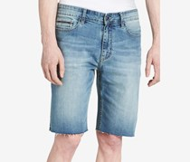 Calvin Klein Jeans Men's Stretch Silver Bullet Cutoff Denim Shorts, Silver Bullet
