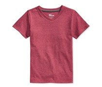 Epic Threads Boys' Solid V-Neck T-Shirt, Red Shadow