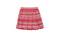 Epic Threads Pleated Fair Isle Skirt, Tango Red
