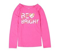Epic Threads Kids Be Bright Tee, Pink Yarrow