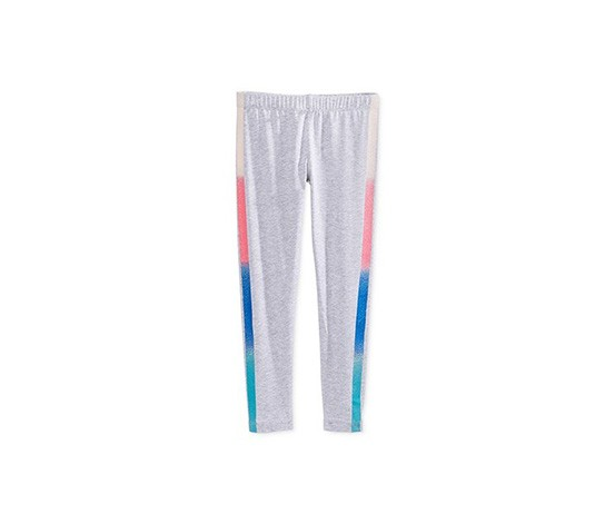 Epic Threads Rainbow-Stripe Tuxedo Leggings, Light Grey Heather