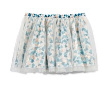 Epic Threads Metallic Hearts Tulle Skirt, Holiday Ivory