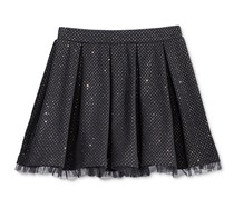 Epic Threads  Toddler Girls Mix and Match Glitter Pleated Skirt, Deep Black