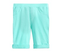 Toddlers Mix & Match Roll-Cuff Bermuda Shorts, Aqua Bliss
