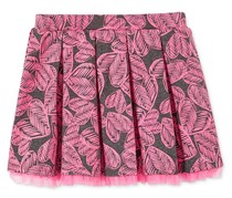 Epic Threads Mix and Match Heart-Print Pleated Skirt, Dark Grey/Pink