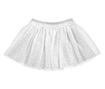 Epic Threads Flocked Heart Tulle Skirt, Bright White