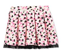 Epic Threads Girls Mix and Match Heart-Print Skirt, Holiday Ivory