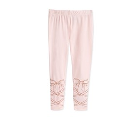 Epic Threads Ballet Laces Leggings, Pink Dogwood