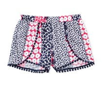 Epic Threads Mix and Match Floral-Print Shorts, Medieval Blue