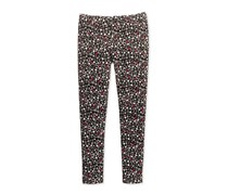 Epic Threads Mix and Match Floral-Print Leggings, Deep Black