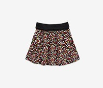 Epic Threads Ditsy Floral-Print Skirt, Deep Black