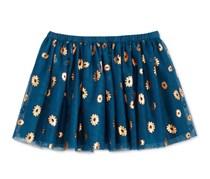 Epic Threads Little Girl's Mix and Match Daisy-Print Tutu Skirt, Blue Opaline