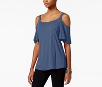 Calvin Klein Jeans Cold-Shoulder T-Shirt, Bijou Blue