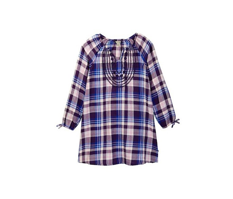 Little Girls Sarah Plaid Dress, Crown Jewel