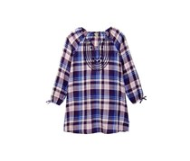 Lucky Brand Little Girls Sarah Plaid Dress, Crown Jewel