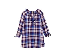 Lucky Brand Girls Sarah Plaid Dress, Crown Jewel
