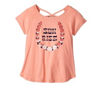 Lucky Brand Kids Girl's Riley Sun Rise Graphic Tee, Camelia Pink