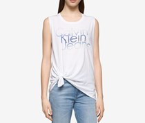 Calvin Klein Jeans Ombre Logo Graphic Top, White