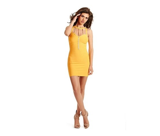 7f2fdadee0a Shop Guess by Marciano Guess By Marciano Abito Amelia Bandage Dress ...