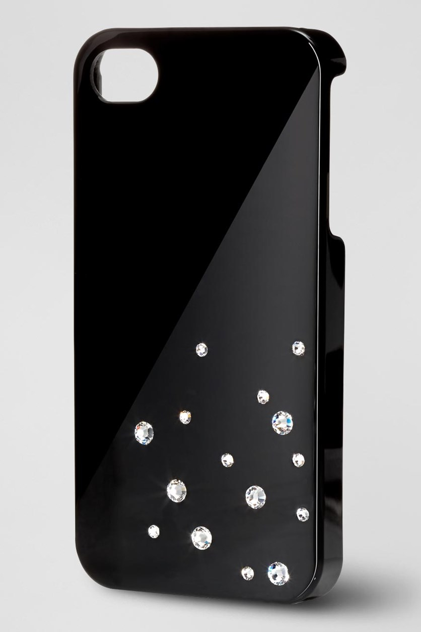 Case for iPhone 4, Swarovski, Black