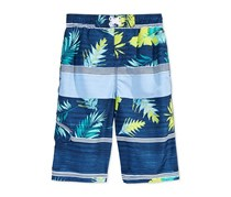 Kanu Surf Condor Mixed-Print Swim Trunks, Navy