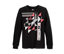 Epic Threads Boys' Long-Sleeve Graphic-Print Thermal Shirt, Deep Black