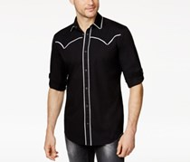 INC International Concepts Men's Western-Style Shirt, Black