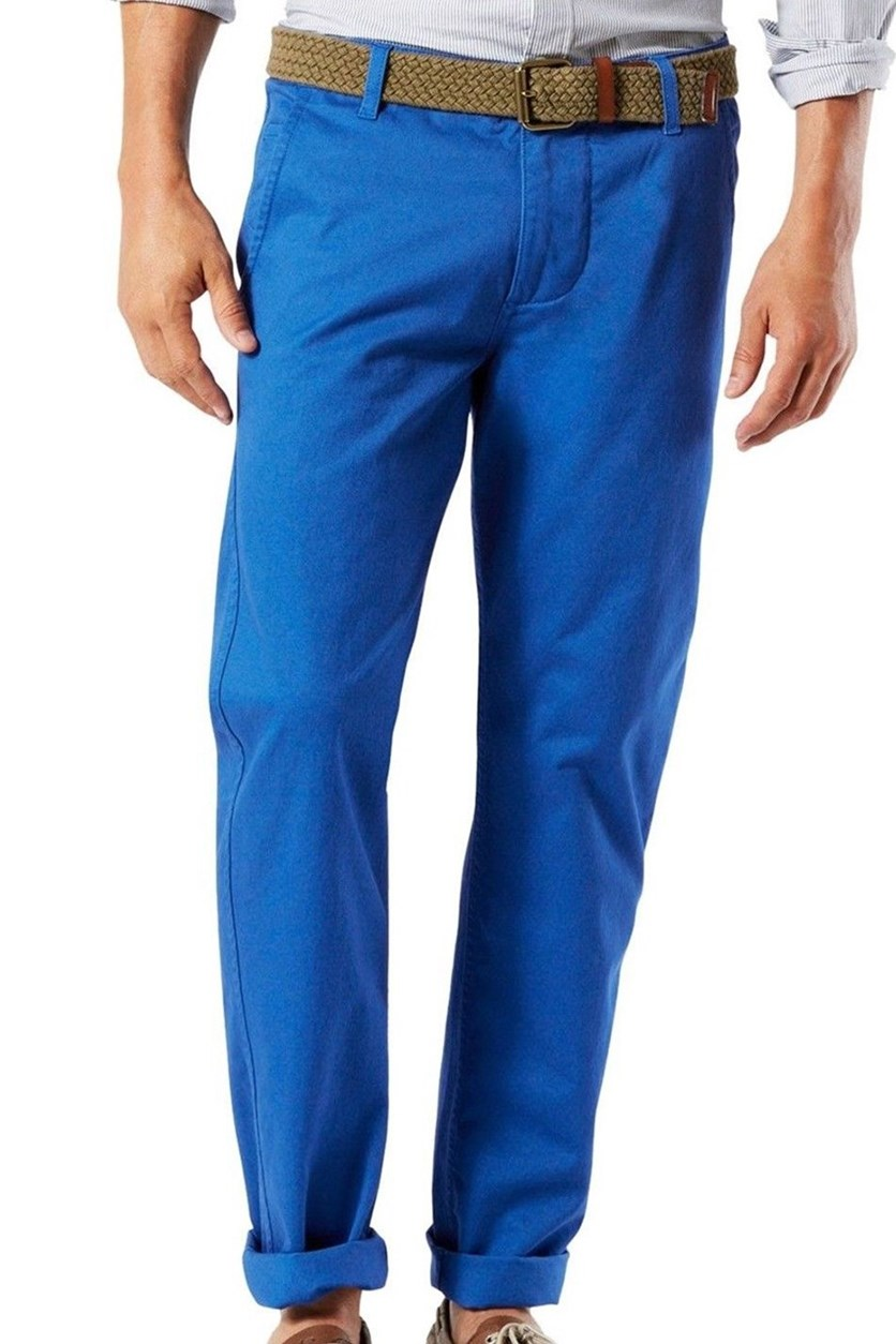 Alpha Slkim Tapered Fit Chinos Pants, Blue