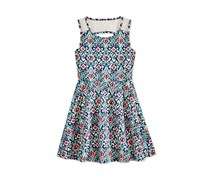 Epic Threads Big Girl Boho Lace Back Dress, Medieval Blue