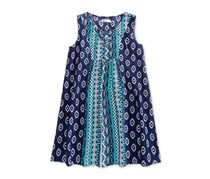 Epic Threads Kids Girls Lace-Up Dress, Medieval Blue