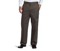 IZOD American Straight-Fit Flat Front Pants, Olive