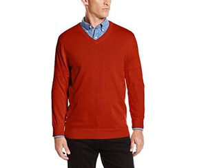 Izod Men's Fine Gauge Sweater, Rooibos Tea