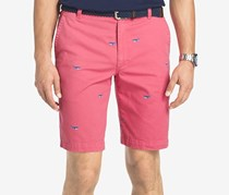 Izod Mens Whale Print Cotton Short, Rapture Rose