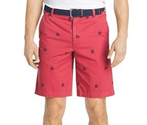 Mens Lobster-Print Cotton Short, Saltwater Red Crab