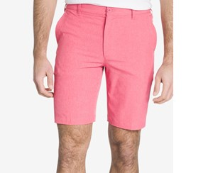 Izod Men's Flat-Front Cotton Shorts, Rapture Rose