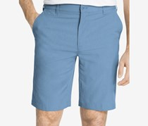 IZOD Mens Flat-Front Cotton Shorts, Heritage Blue