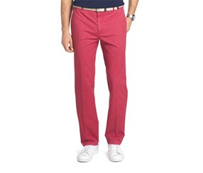 Izod Men's Saltwater Stretch Chino Pants, Saltwater Red