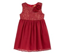 Penelope Mack Sequins Mesh Tulle Dress, Red