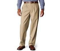 Men's D4 Relaxed Fit Signature Khaki Pleated, Brown