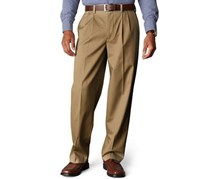 Men's D4 Relaxed Fit Signature Khaki Pleated, Dark Khaki