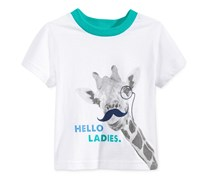 First Impressions Boys Hello Ladies T-Shirt, Bright White