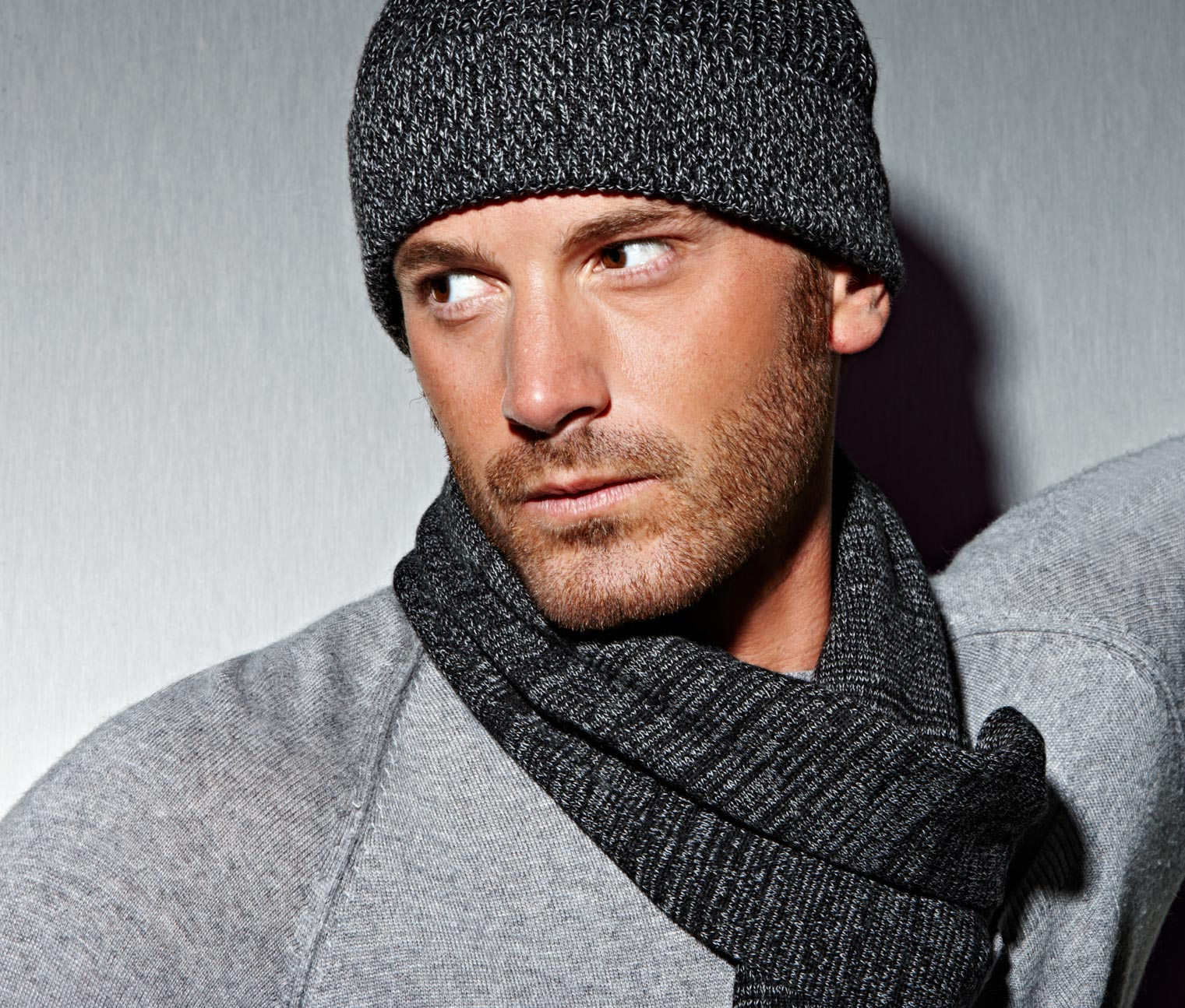 Mens Knitted Scarf