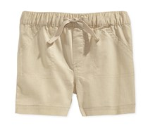 First Impressions Baby Boys Woven Shorts, White Tea