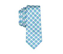 Lord & Taylor Boy's Plaid Neck Tie, Green/Blue