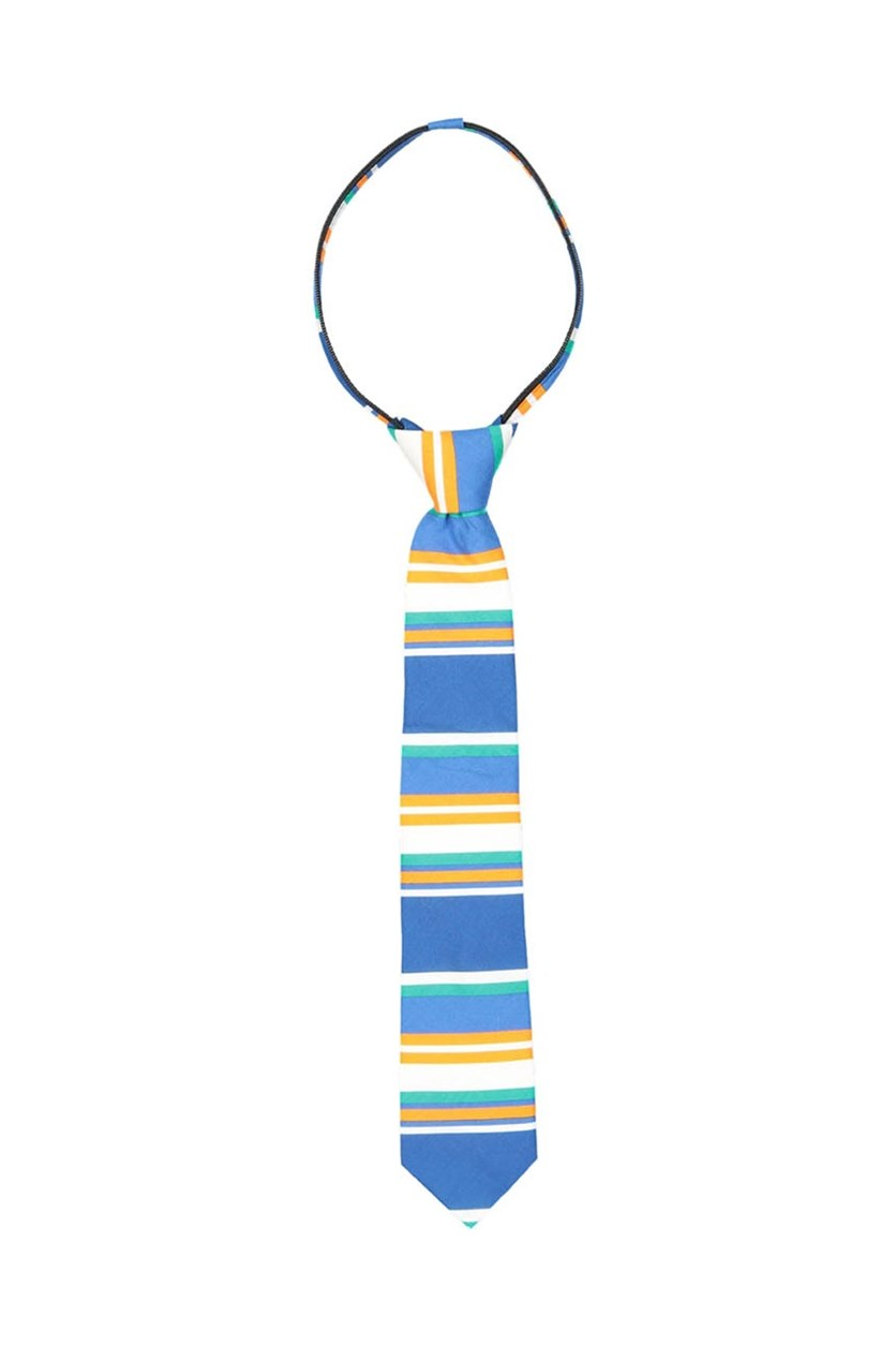 Boy's Zipper Tie, Blue/Orange