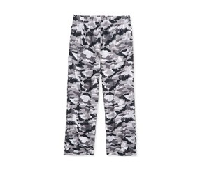 Max & Olivia Kid's Boy Camo-Print Sleep Pants, Grey/Black