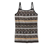 Epic Threads Metallic-Print Shelf Camisole, Deep Black